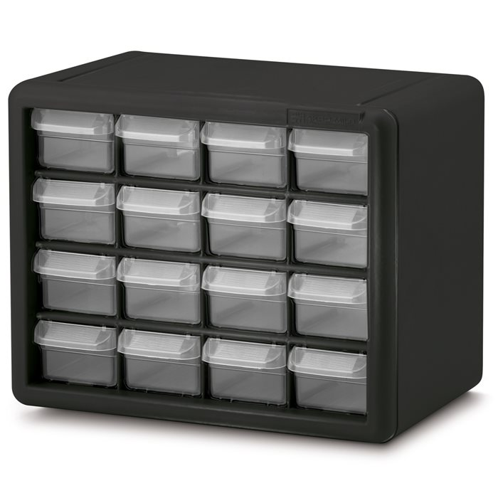 16 Drawer Plastic Storage Cabinet 10116