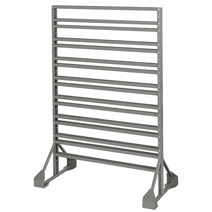 Two-Sided Rail Bin Rack 30016