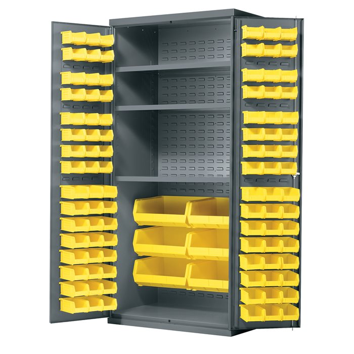 AkroBin Metal Cabinet AC3624Y3AS (Bins & Shelves)
