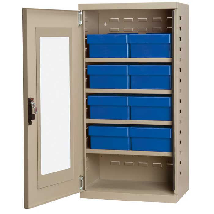 Secure Metal Wall Cabinet ACQV4P