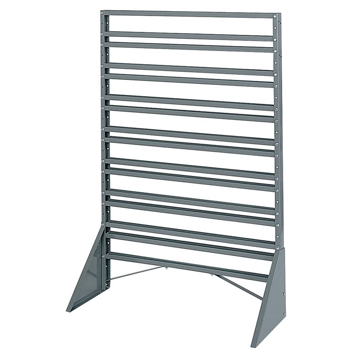 One-Sided Rail Bin Rack 30008