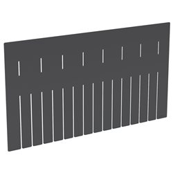 Long Divider for Akro-Grid 33222, 6 Pack, Black (42222)