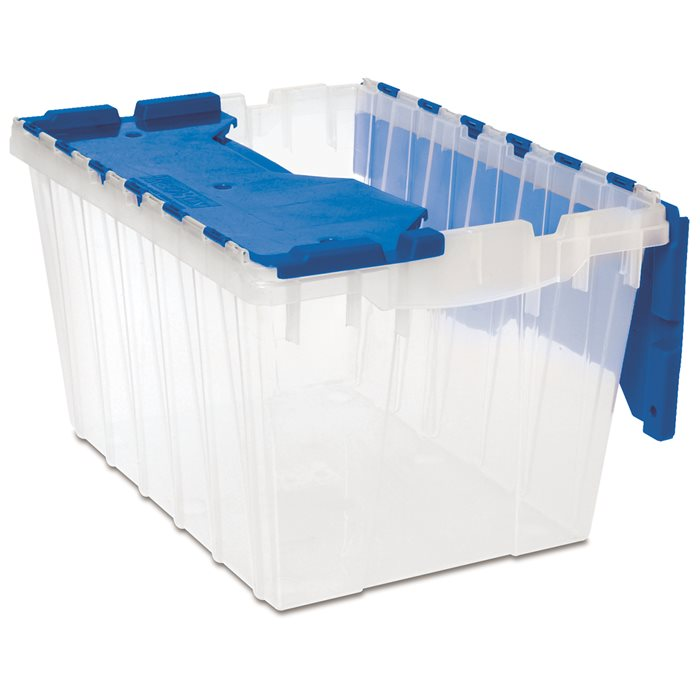 Akro Mils Keepbox Attached Lid Containers Flip Totes Plastic