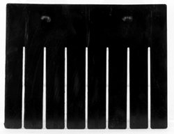 Short Divider for Akro-Grid Box 33168, 6 Pack, Black (41168)