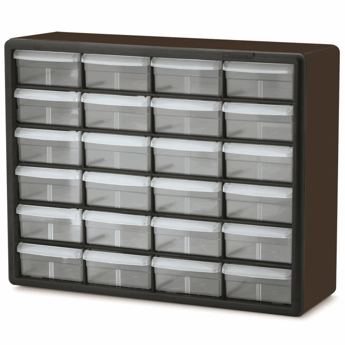 24 Drawer Plastic Storage Cabinet 10124